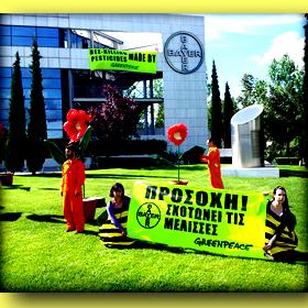 Greenpeace: Η Bayer σκοτώνει τιςμέλισσες